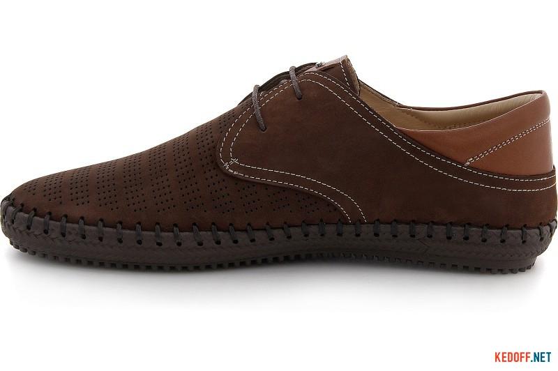 Мужские мокасины на шнурках Greyder 60110-45 Шоколадный нубук