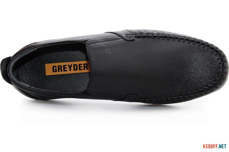 Мужские туфли Greyder 65986-27 Черная кожа