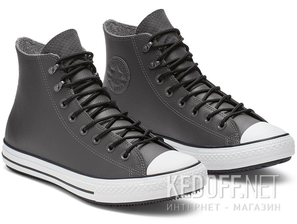 Купить Мужские кеды Converse Chuck Tailor All Star Winter 164926C Grey Leather Water-Repellent High Top