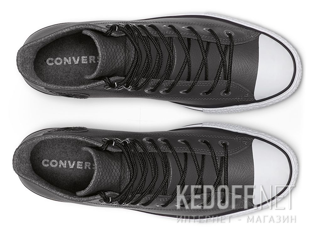 Оригинальные Мужские кеды Converse Chuck Tailor All Star Winter 164926C Grey Leather Water-Repellent High Top