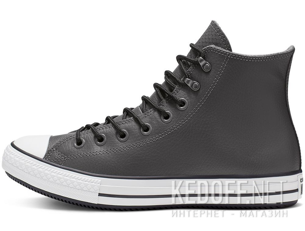Мужские кеды Converse Chuck Tailor All Star Winter 164926C Grey Leather Water-Repellent High Top купить Киев