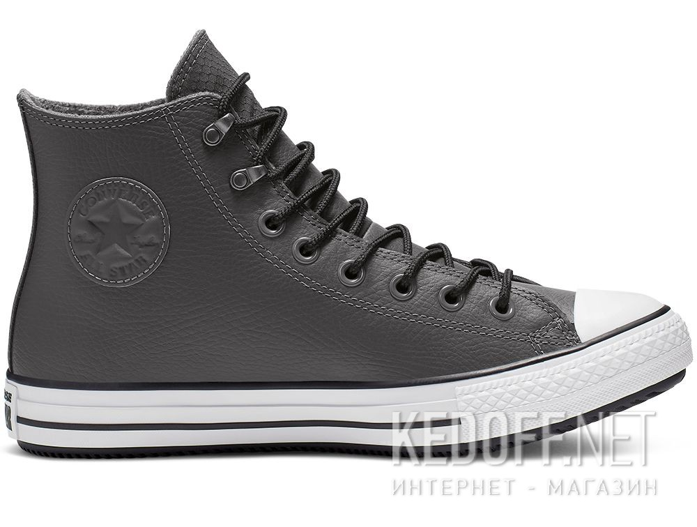 Мужские кеды Converse Chuck Tailor All Star Winter 164926C Grey Leather Water-Repellent High Top купить Украина