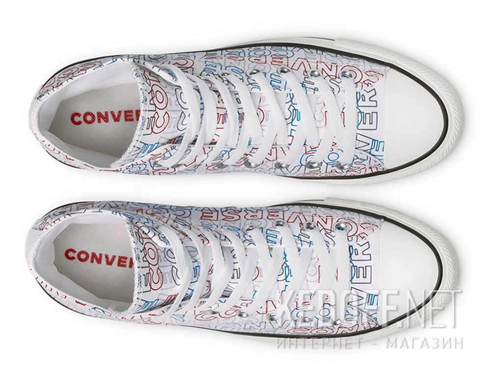 Мужские кеды Converse Chuck Tailor All Star Wordmark Print Hi 170107C описание
