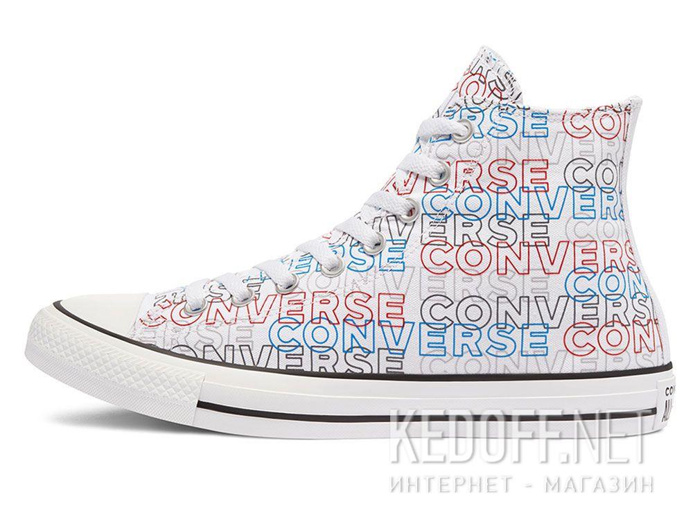 Оригинальные Мужские кеды Converse Chuck Tailor All Star Wordmark Print Hi 170107C