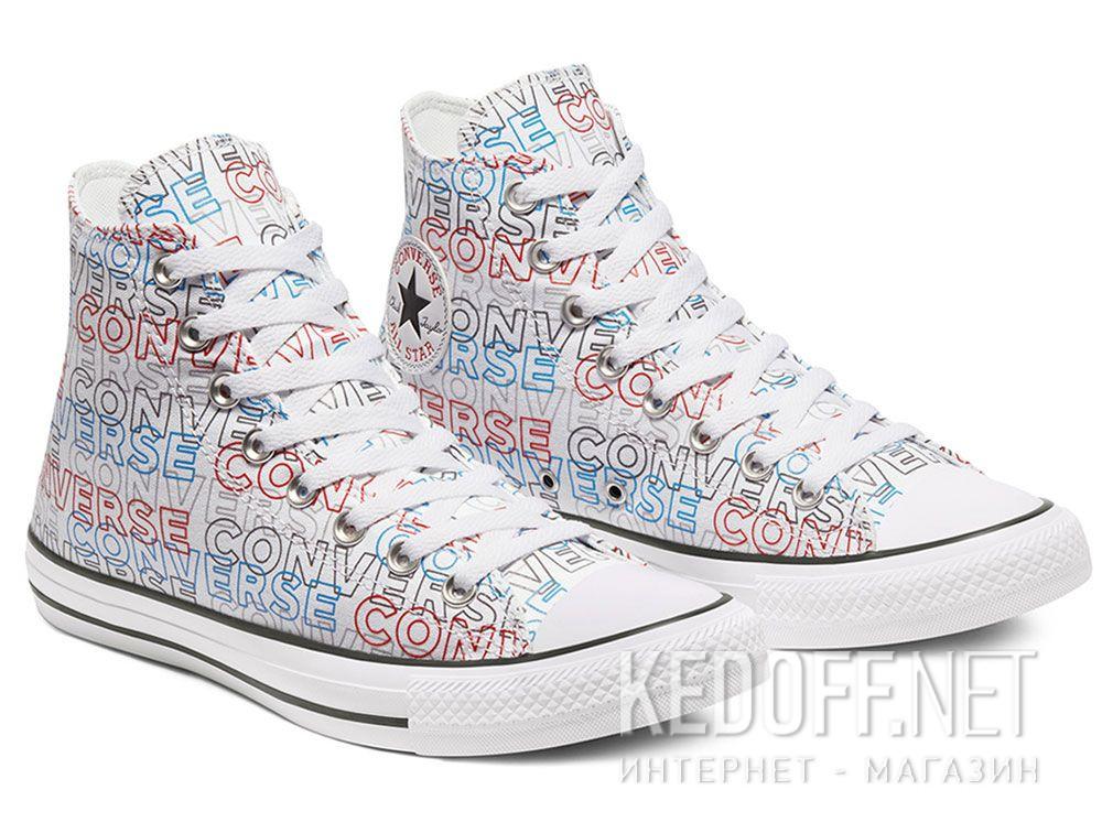 Мужские кеды Converse Chuck Tailor All Star Wordmark Print Hi 170107C купить Киев