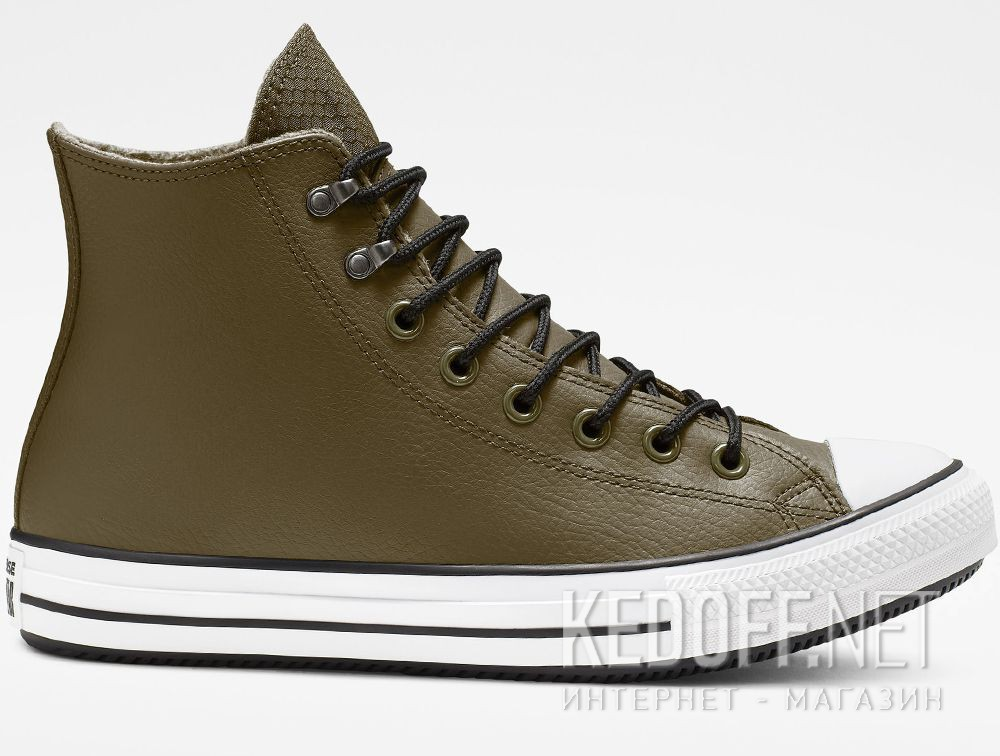 Мужские кеды Converse Chuck Taylor All Star Winter Water-Repellent High Top 164925C Olive купить Киев