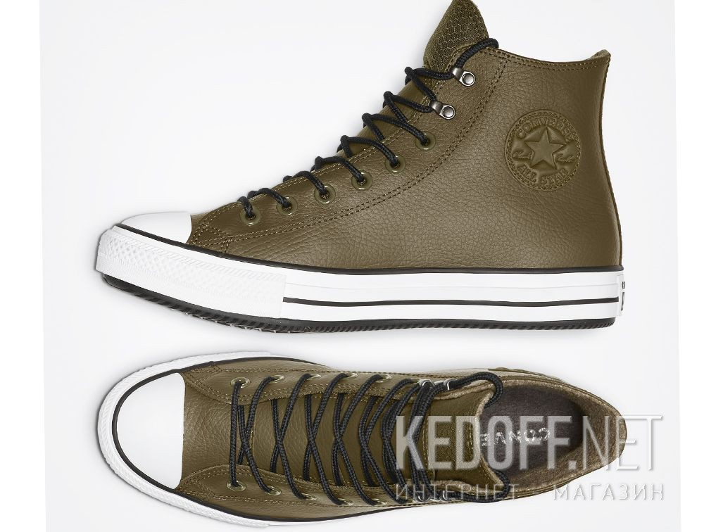 Мужские кеды Converse Chuck Taylor All Star Winter Water-Repellent High Top 164925C Olive описание