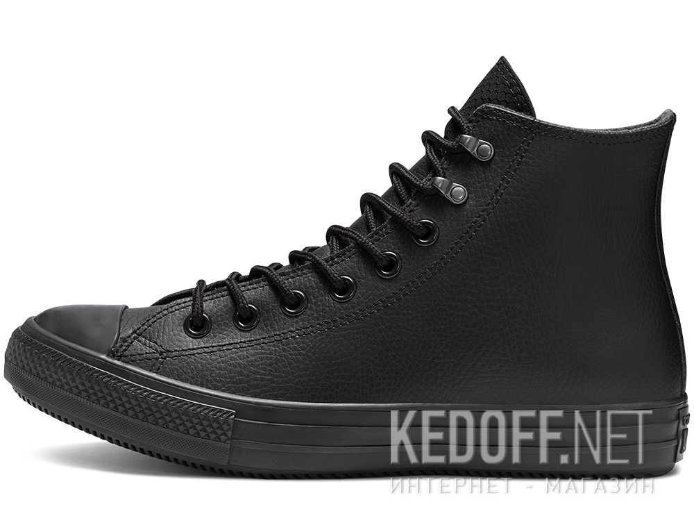 Мужские кеды Converse Chuck Taylor All Star Winter Water-Repellent High Top 164923C Black Leather купить Киев