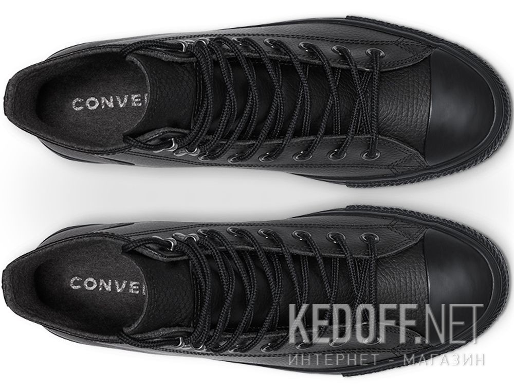 Мужские кеды Converse Chuck Taylor All Star Winter Water-Repellent High Top164923C Black Leather описание