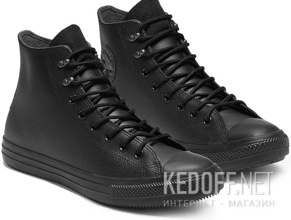 Купить Мужские кеды Converse Chuck Taylor All Star Winter Water-Repellent High Top 164923C Black Leather