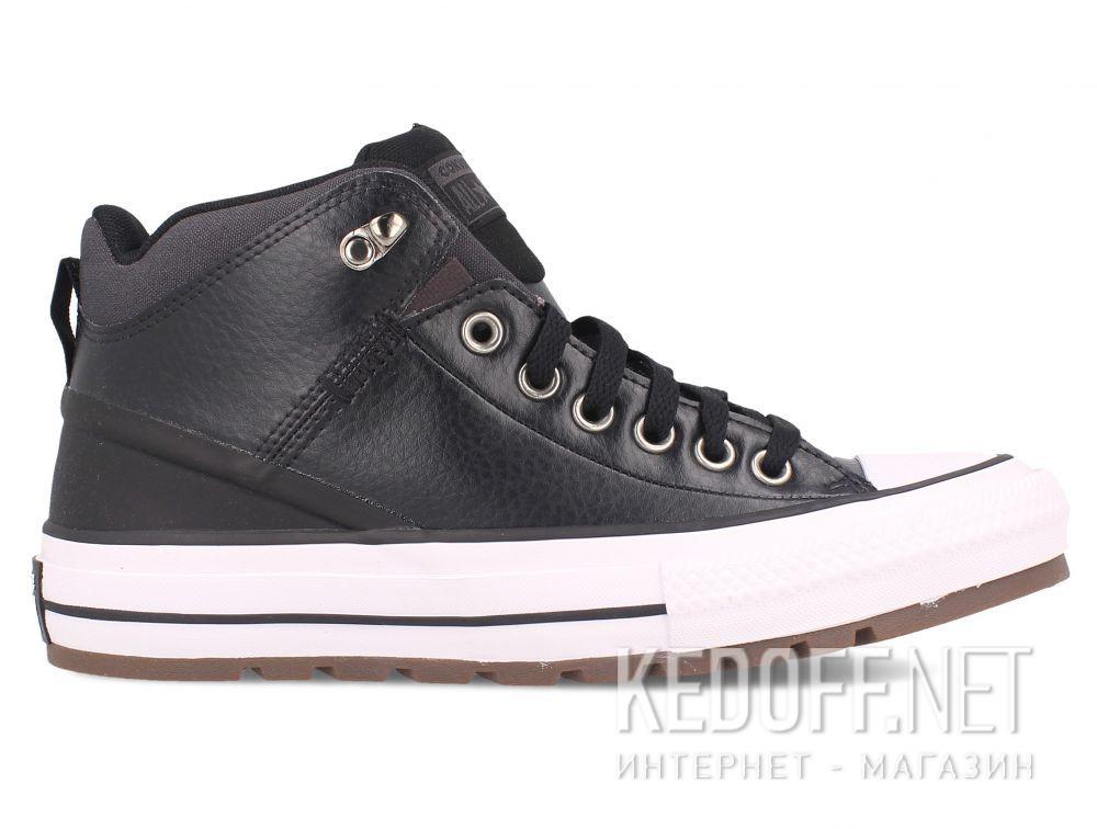 Мужские кеды Converse Chuck Taylor Leather Mid Black 168865C купить Киев