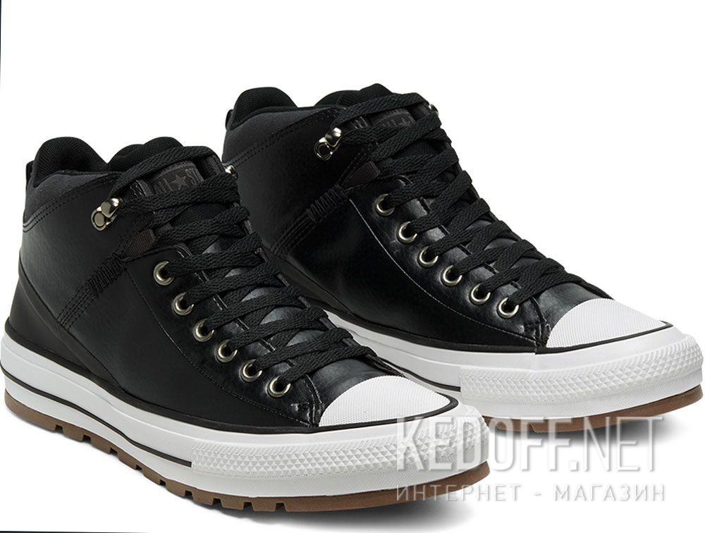 Мужские кеды Converse Chuck Taylor Leather Mid Black 168865C купить Украина