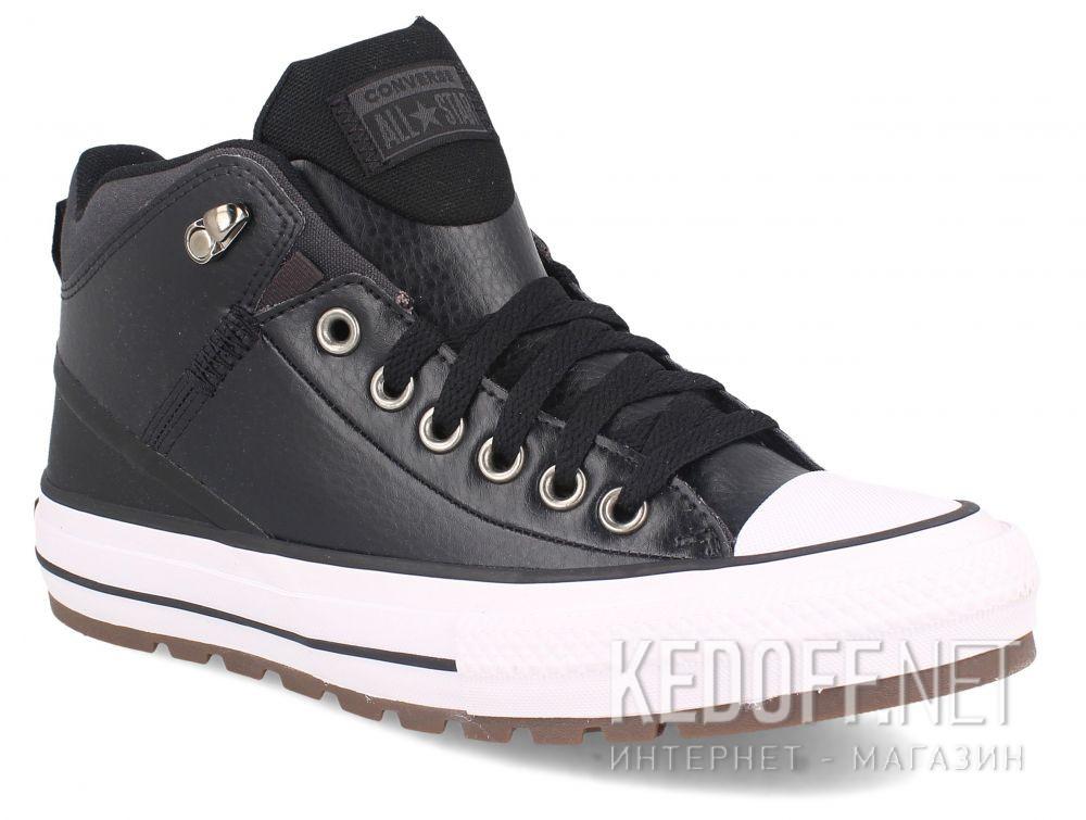 Купить Мужские кеды Converse Chuck Taylor Leather Mid Black 168865C