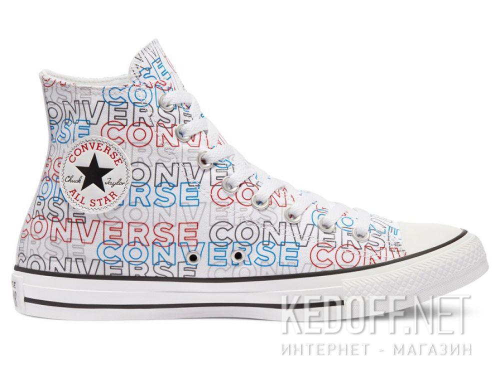 Мужские кеды Converse Chuck Tailor All Star Wordmark Print Hi 170107C купить Украина