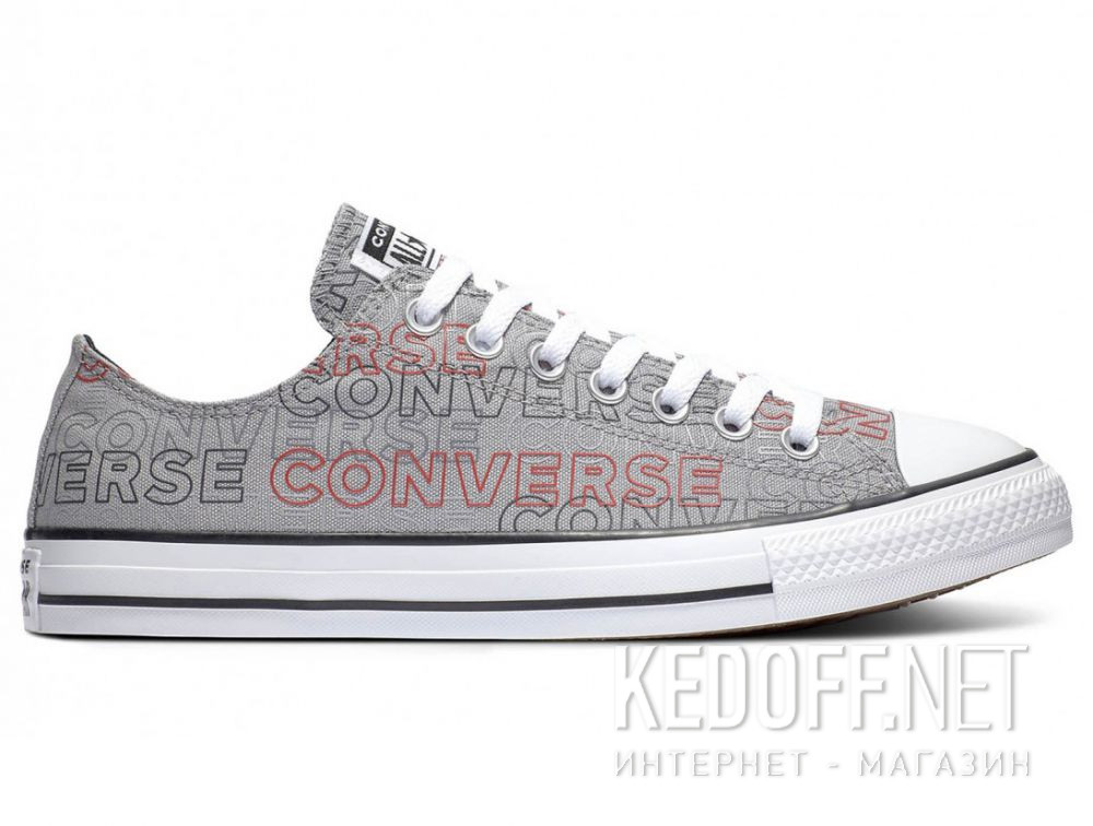 Мужские кеды Converse Chuck Tailor All Star Wordmark Print low 170109C описание