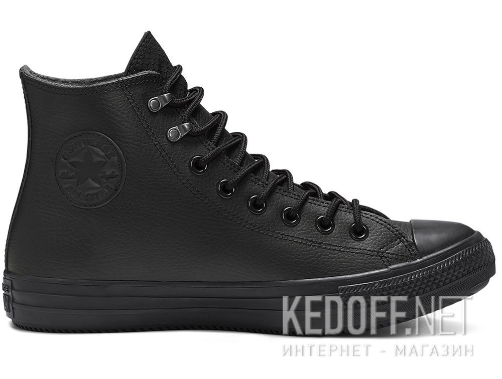 Мужские кеды Converse Chuck Taylor All Star Winter Water-Repellent High Top 164923C Black Leather купить Украина
