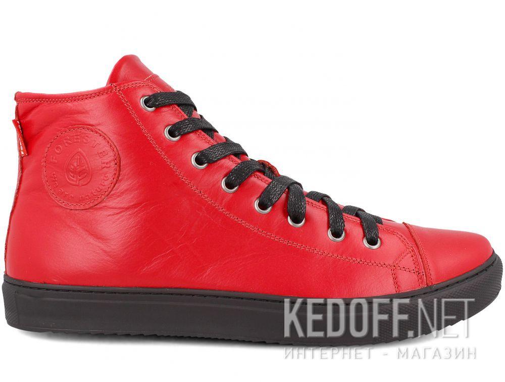 Мужские кожаные кеды Forester 132125-4727 купить Киев