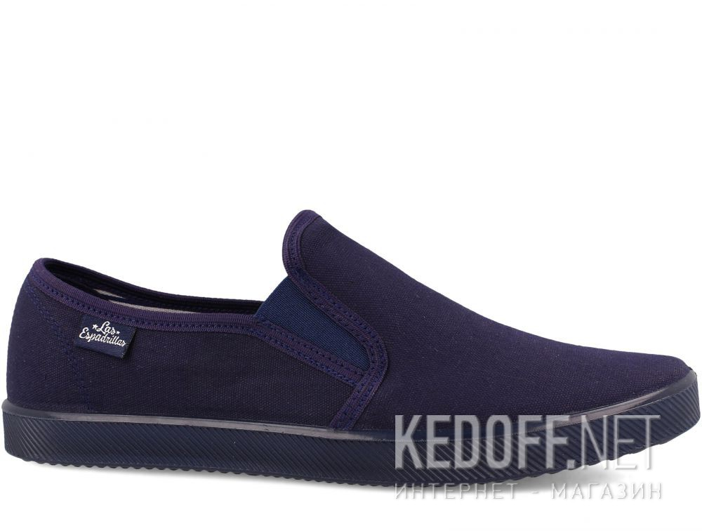 Мужские слипоны Las Espadrillas Eco Soft 6088-8989 Lacoste Navy купить Киев