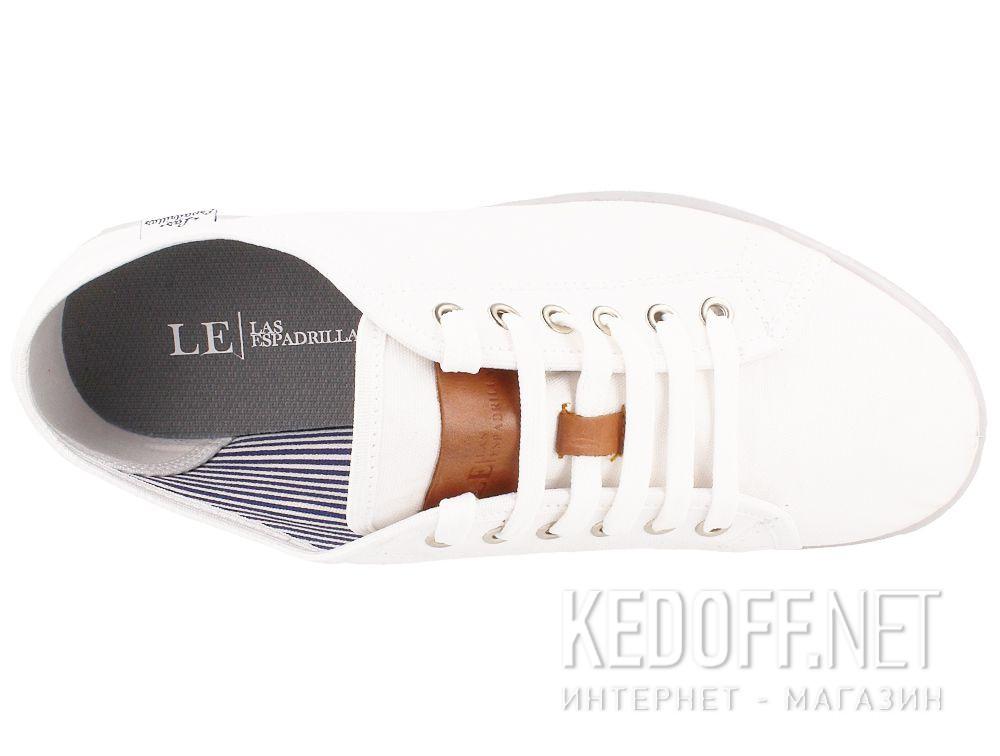 Мужские кеды Las Espadrillas 6099-13 Optical White описание
