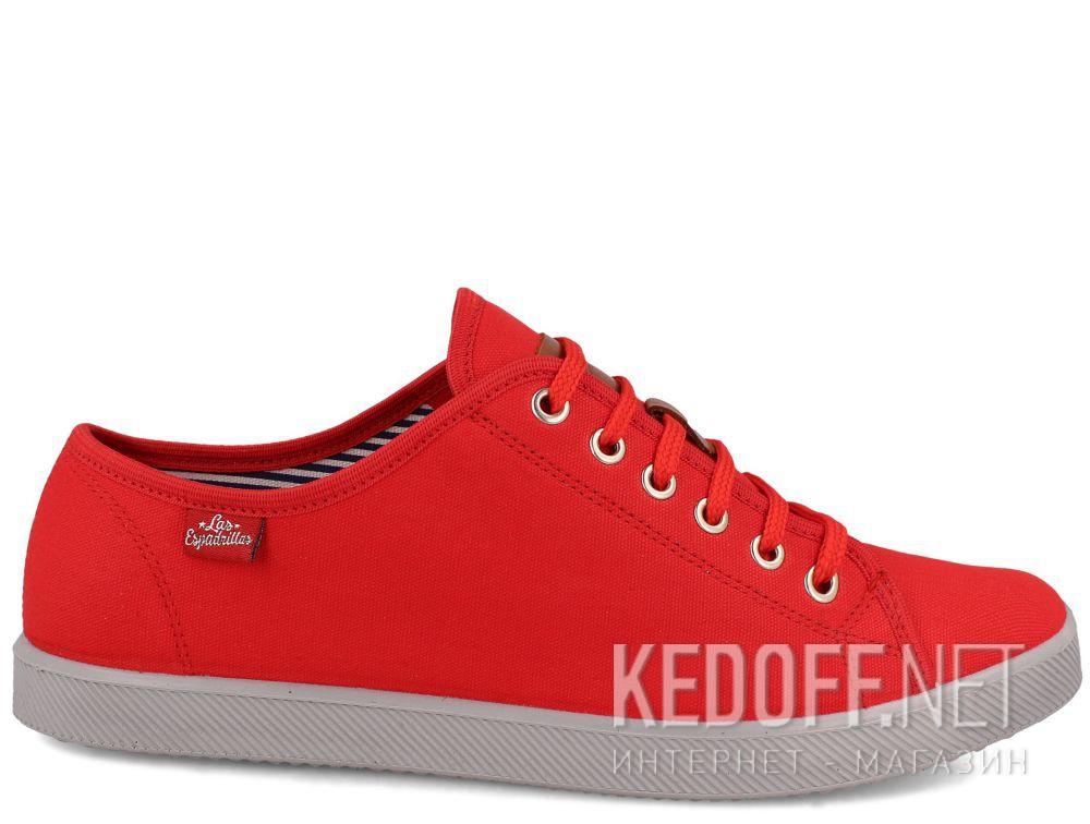 Мужские кеды Las Espadrillas Red Slim 6099-47 купить Украина