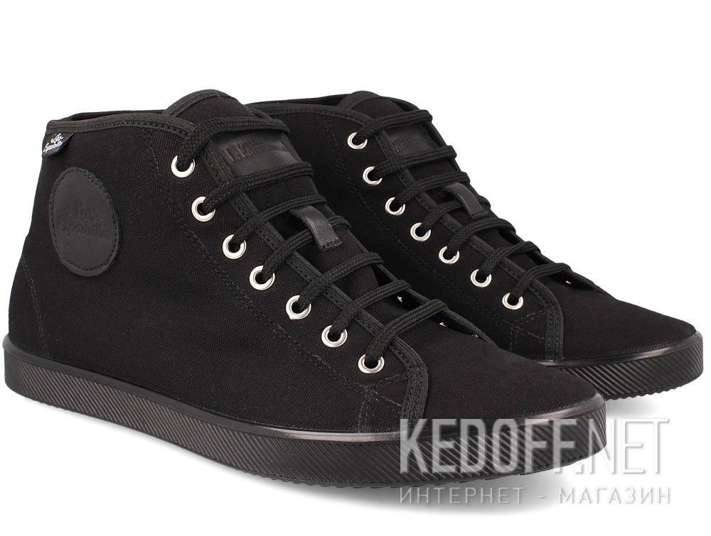 Мужские кеды Las Espadrillas Black 9214-27 купить Украина