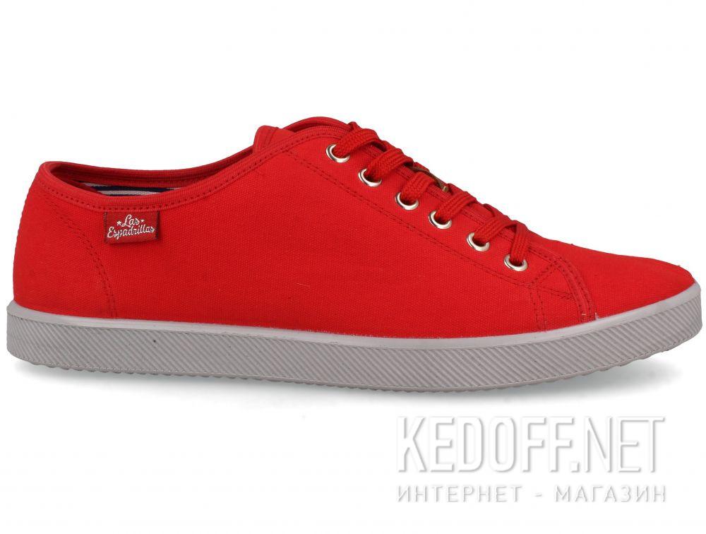 Мужские кеды Las Espadrillas Eco Soft 6099-47  Red Slim  купить Украина
