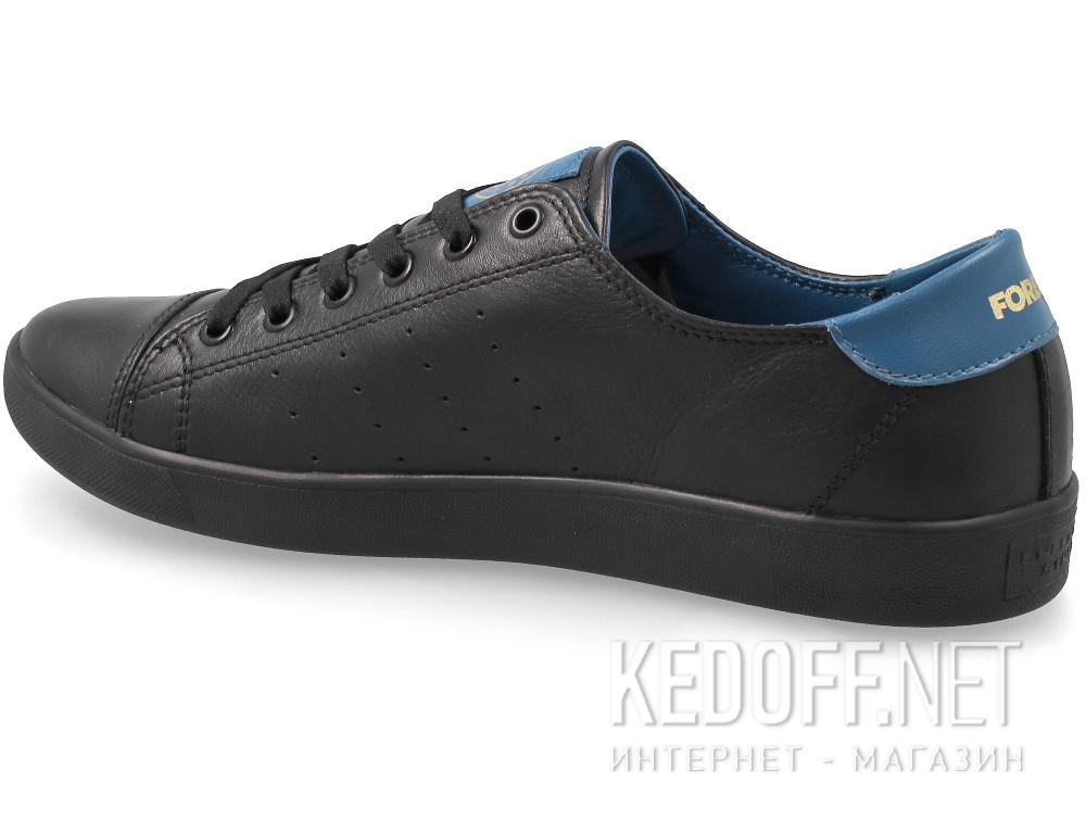 Кожаные кеды Forester 9020-010827 унисекс   (чёрный/синий) купить Украина