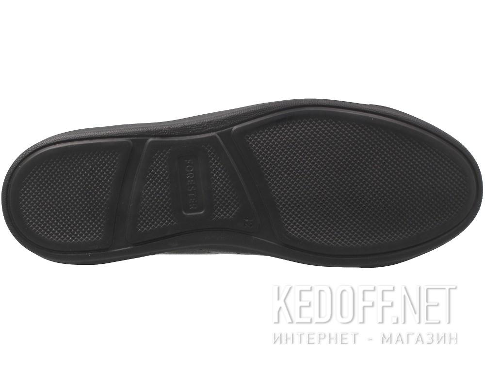 Кожаные кеды Forester 9020-010827 унисекс   (чёрный/синий) купить Киев