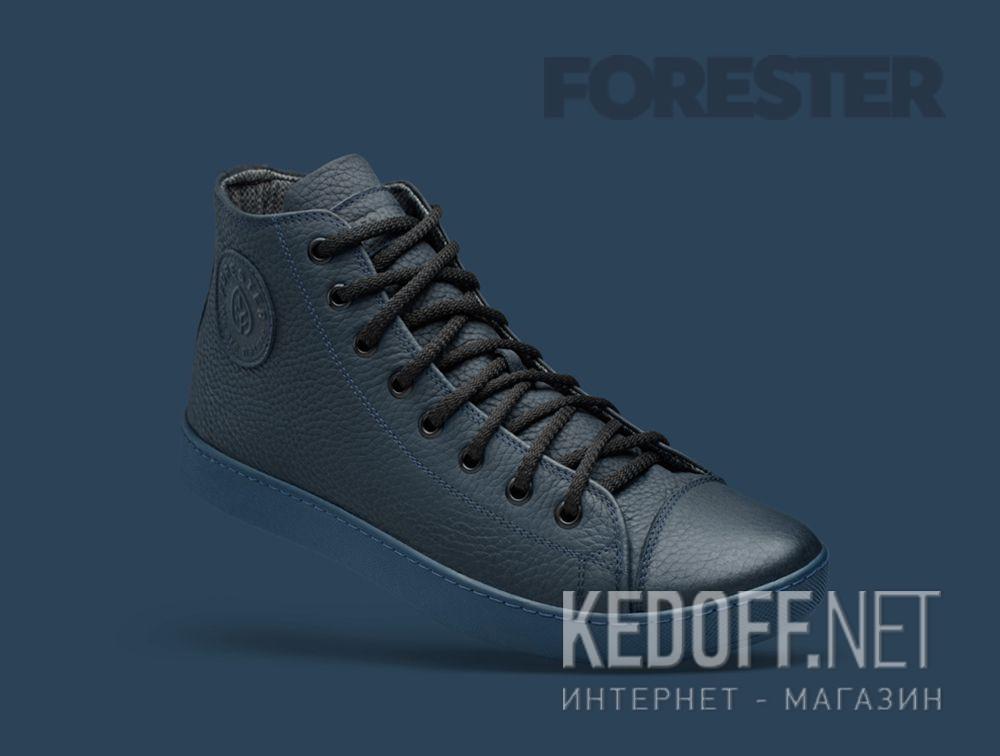 Цены на Мужские кожаные кеды Forester Monochrome 132125-895MB   (тёмно-синий)