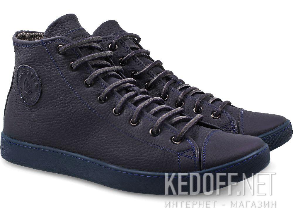 Купить Мужские кожаные кеды Forester Monochrome 132125-895MB   (тёмно-синий)