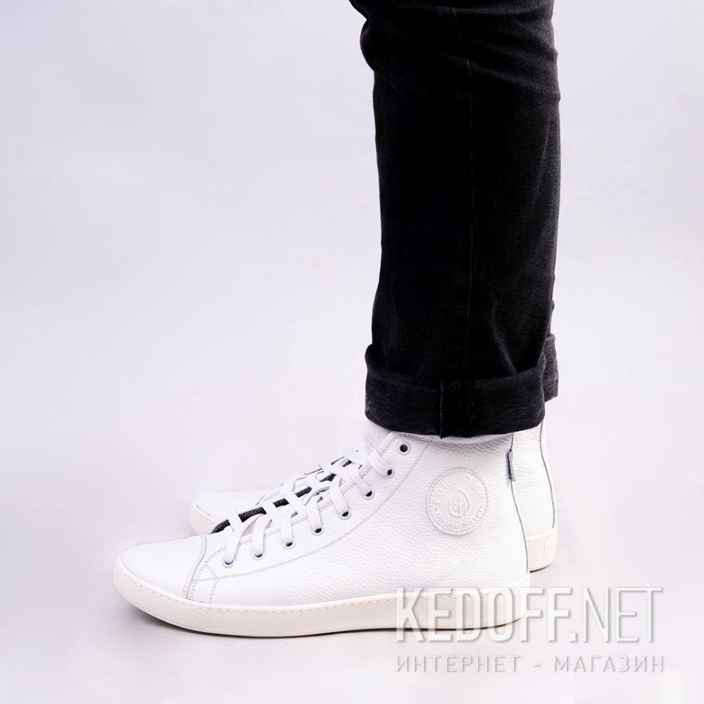 Мужские кожаные кеды Forester White Leather 132125-13   (белый) все размеры