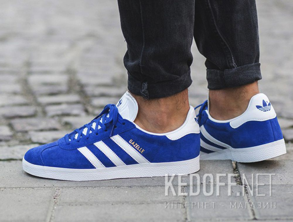 newest c8b8a 982f6 Delivery Mens sneakers Adidas Originals Gazelle S76227 (blue)