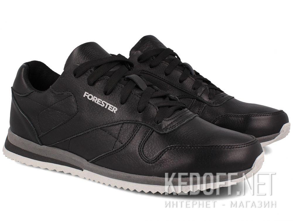 Мужские кроссовки Forester Original Black Leather 4101-27 купить Украина