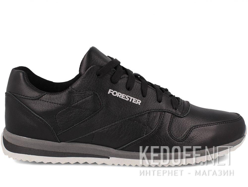 Мужские кроссовки Forester Original Black Leather 4101-27 купить Киев