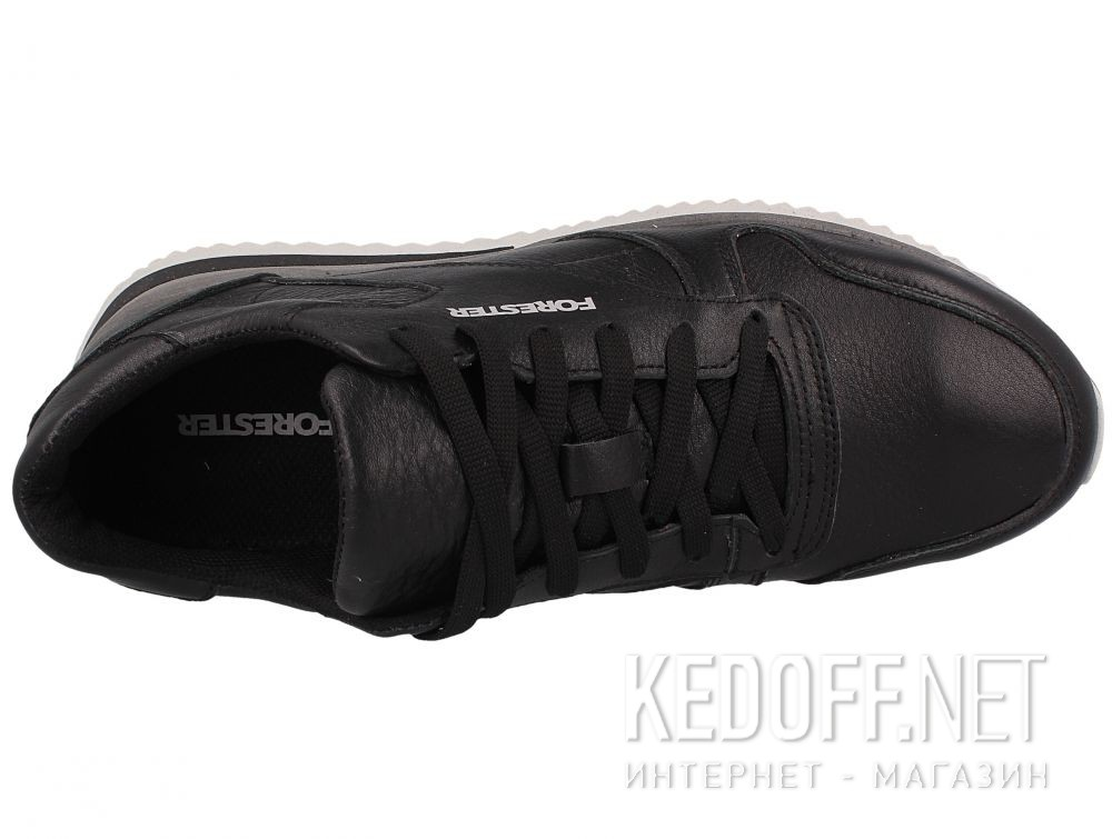Мужские кроссовки Forester Original Black Leather 4101-27 описание