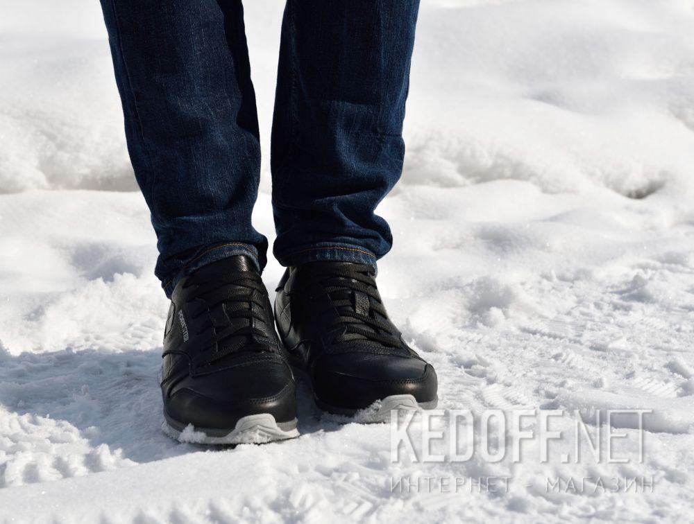 Мужские кроссовки Forester Original Black Leather 4101-27 все размеры