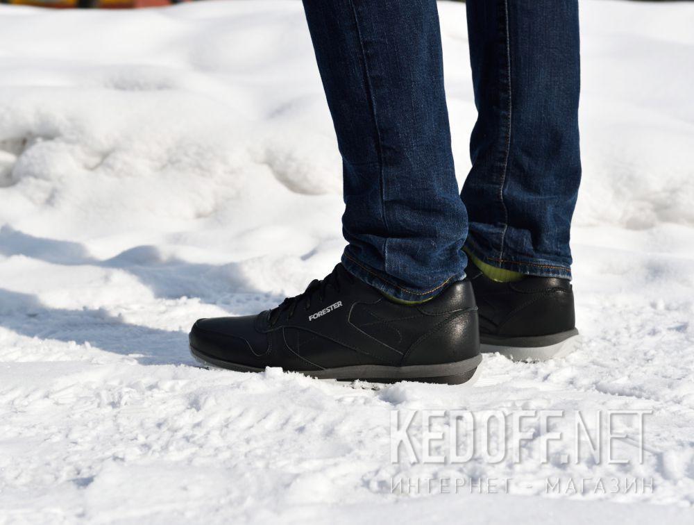 Мужские кроссовки Forester Original Black Leather 4101-27 доставка по Украине