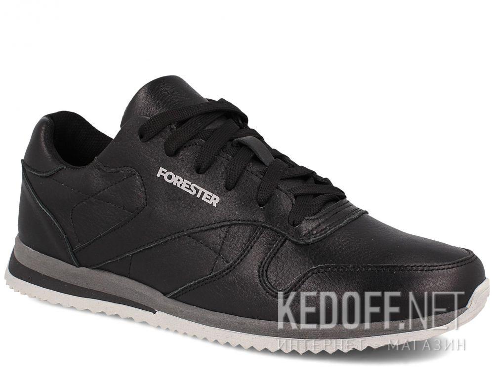 Купить Мужские кроссовки Forester Original Black Leather 4101-27