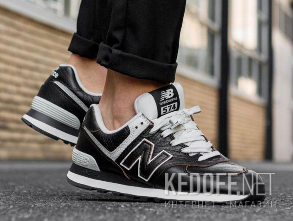 Мужские кроссовки New Balance ML574LPK Черная кожа в магазине обуви ... 4bd877af0f8