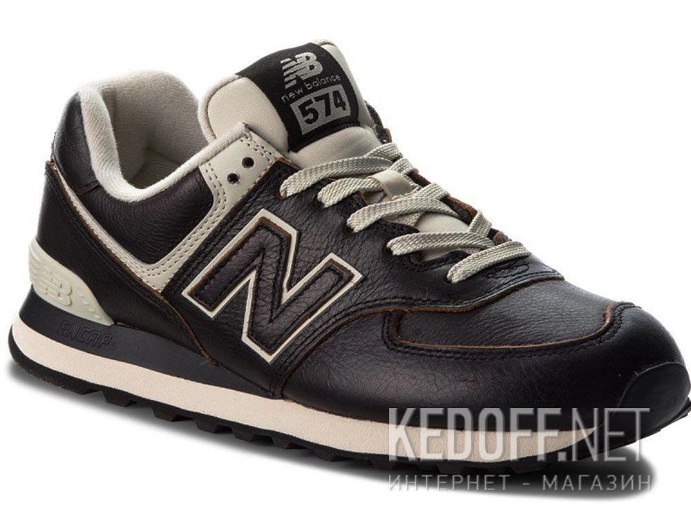 ebaaa42aac443 Shop Mens sneakers New Balance ML574LPK Black leather at Kedoff.net - 28804
