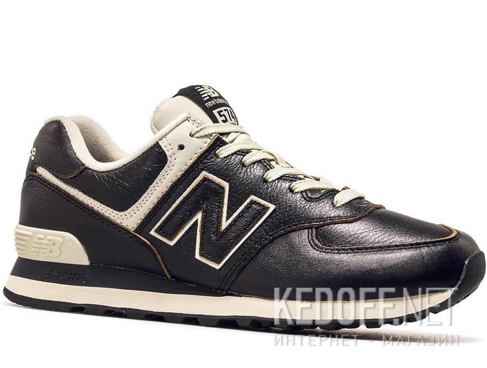 e01c4defebc Shop Mens sneakers New Balance ML574LPK Black leather at Kedoff.net ...