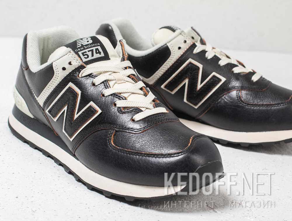 Цены на Мужские кроссовки New Balance ML574LPK Черная кожа