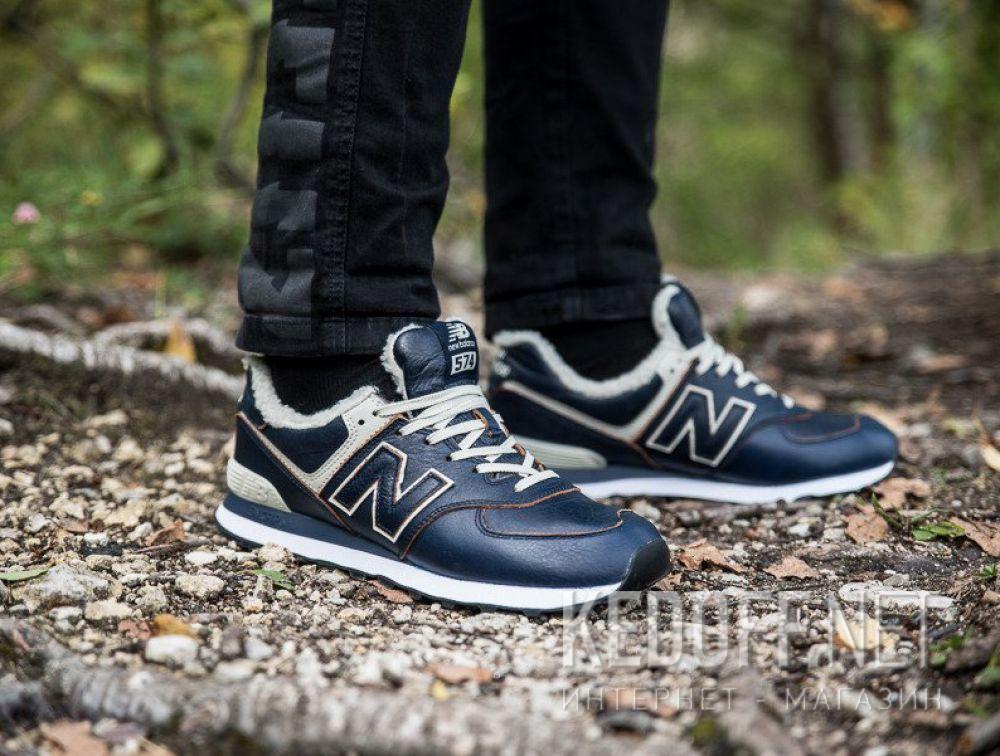 Мужские кроссовки New Balance ML574WNF с мехом все размеры