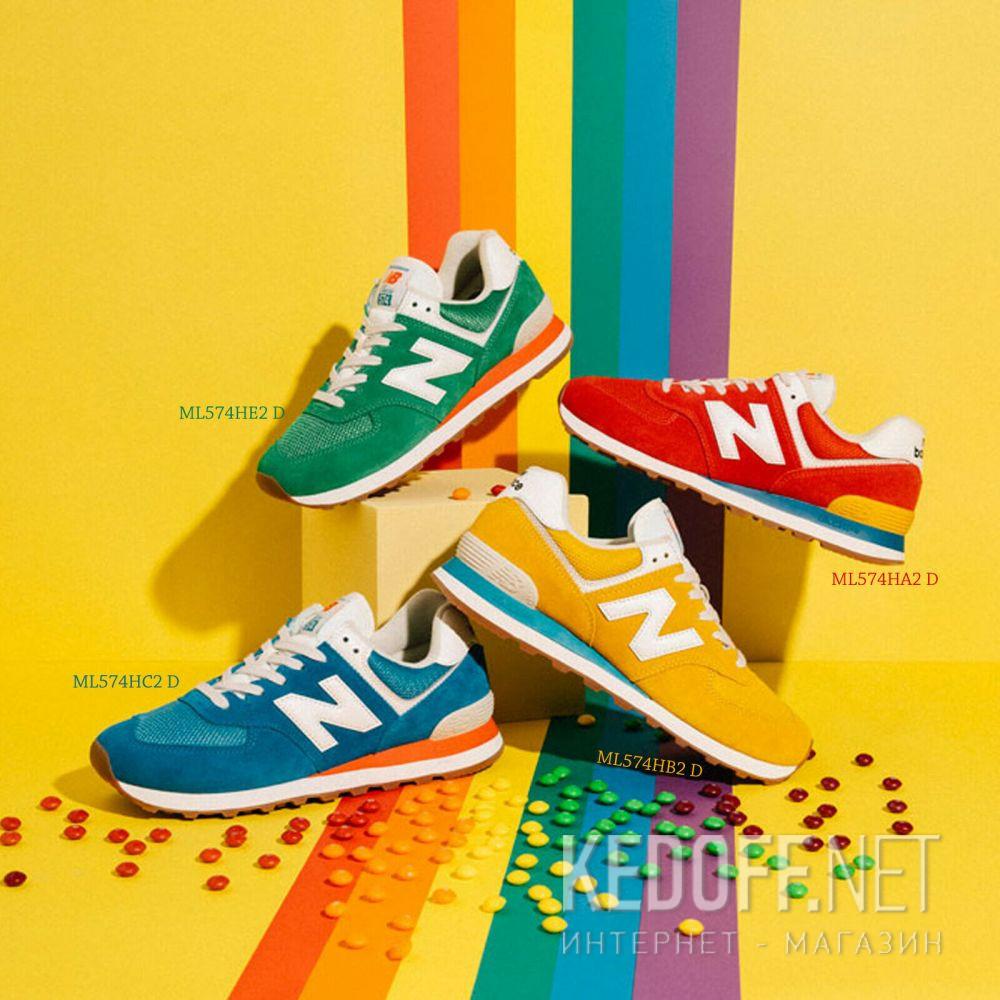 Мужские кроссовки New Balance Vintage Brights ML574HB2 доставка по Украине
