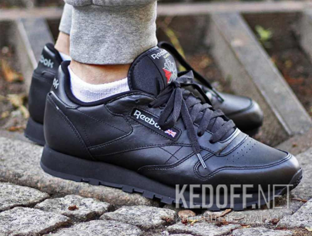 Shop Mens shoes Reebok Classic Leather 2267 (black) at Kedoff.net ... a9bf29541