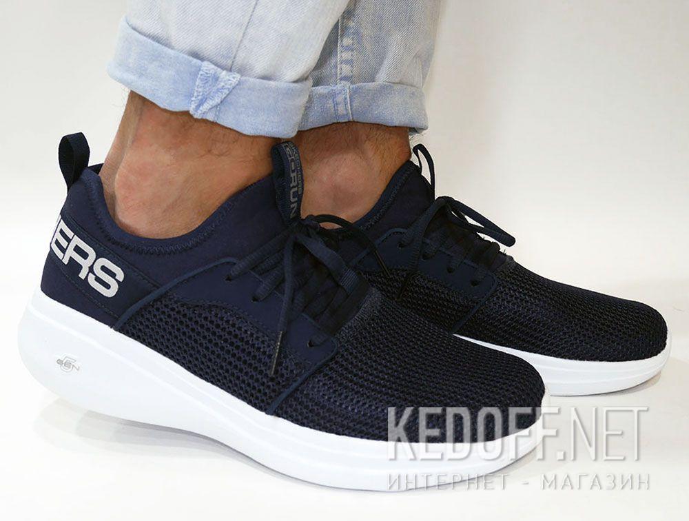 Мужские кроссовки Skechers Valor 55103NVY Тёмносиняя сетка все размеры