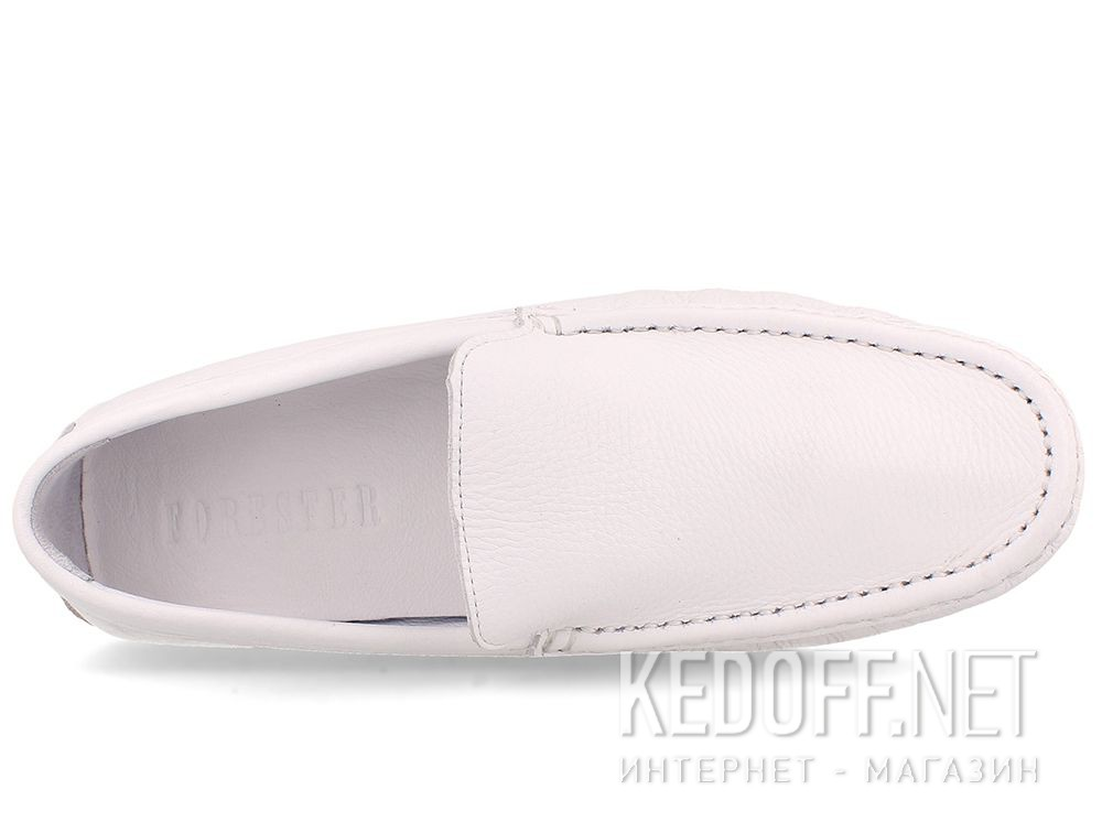 Mens Tods moccasins White Forester 3566-13 описание