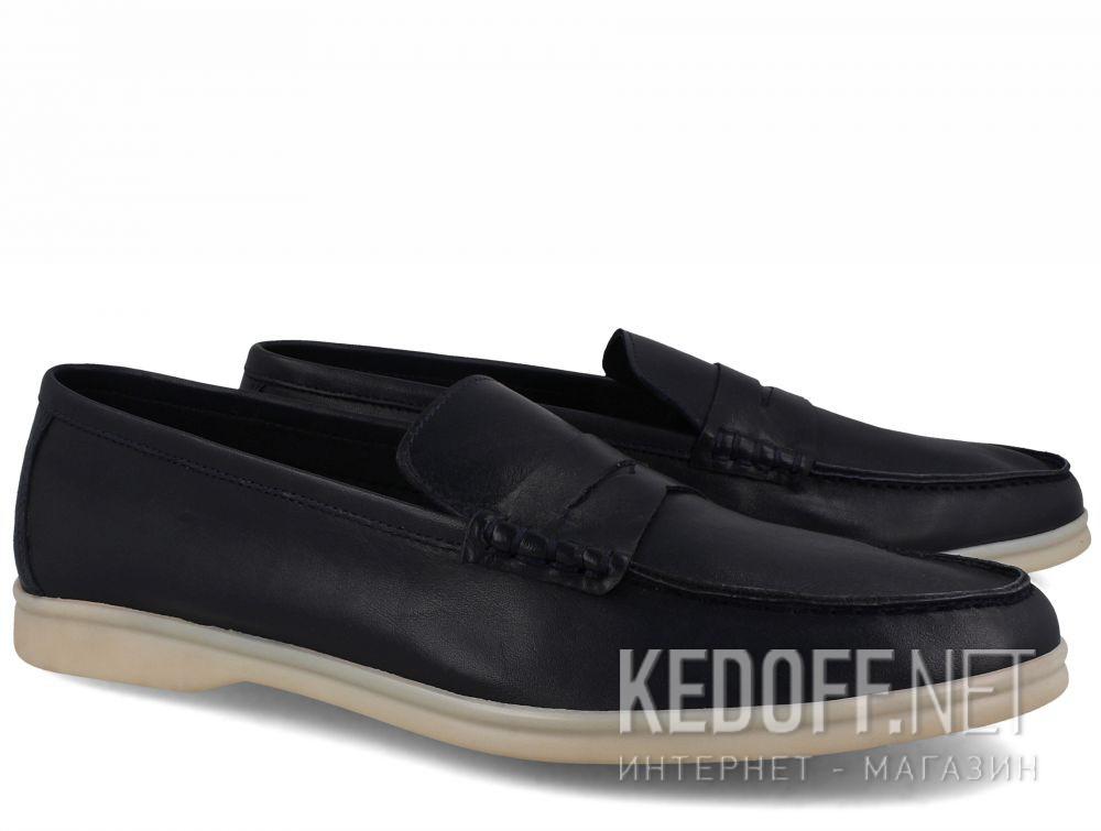 Мужские мокасины Forester Alicante 3681-89 Navy Leather купить Украина