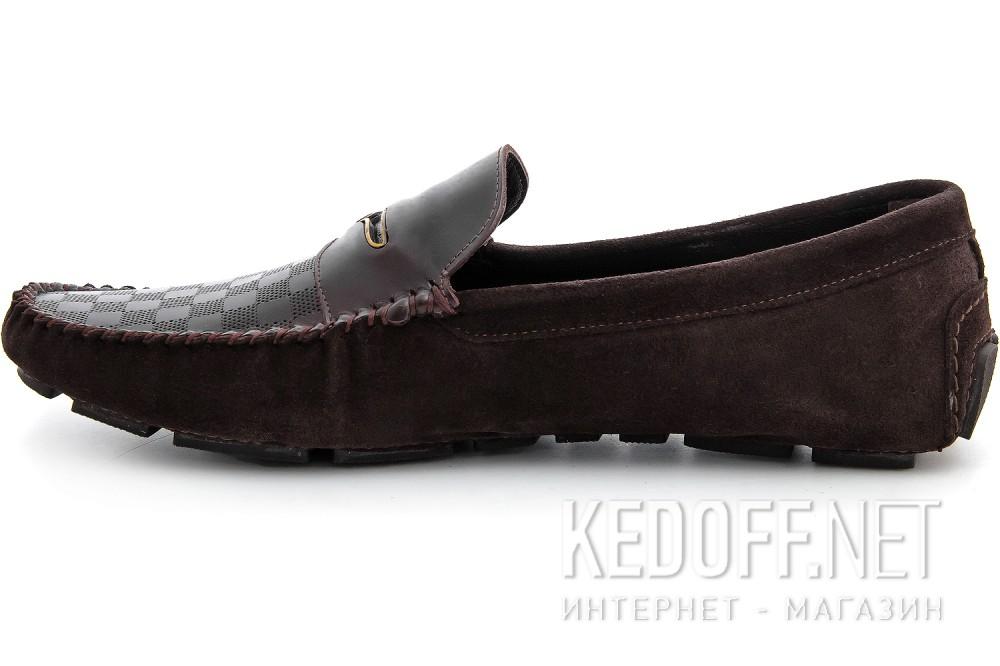 Мужские мокасины Forester 8057-45   (тёмно-коричневый) купить Украина