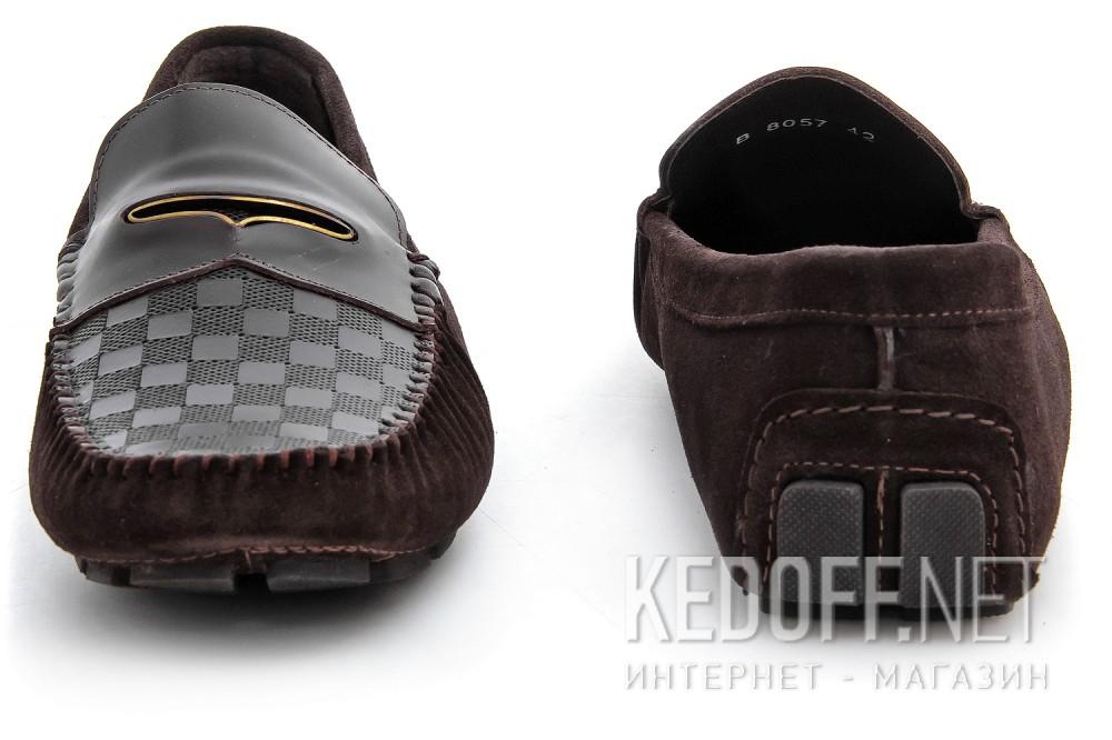 Мужские мокасины Forester 8057-45   (тёмно-коричневый) купить Киев